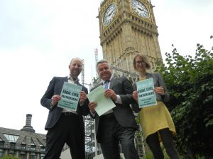 Outside Parliament with Mr. Loughton MP
